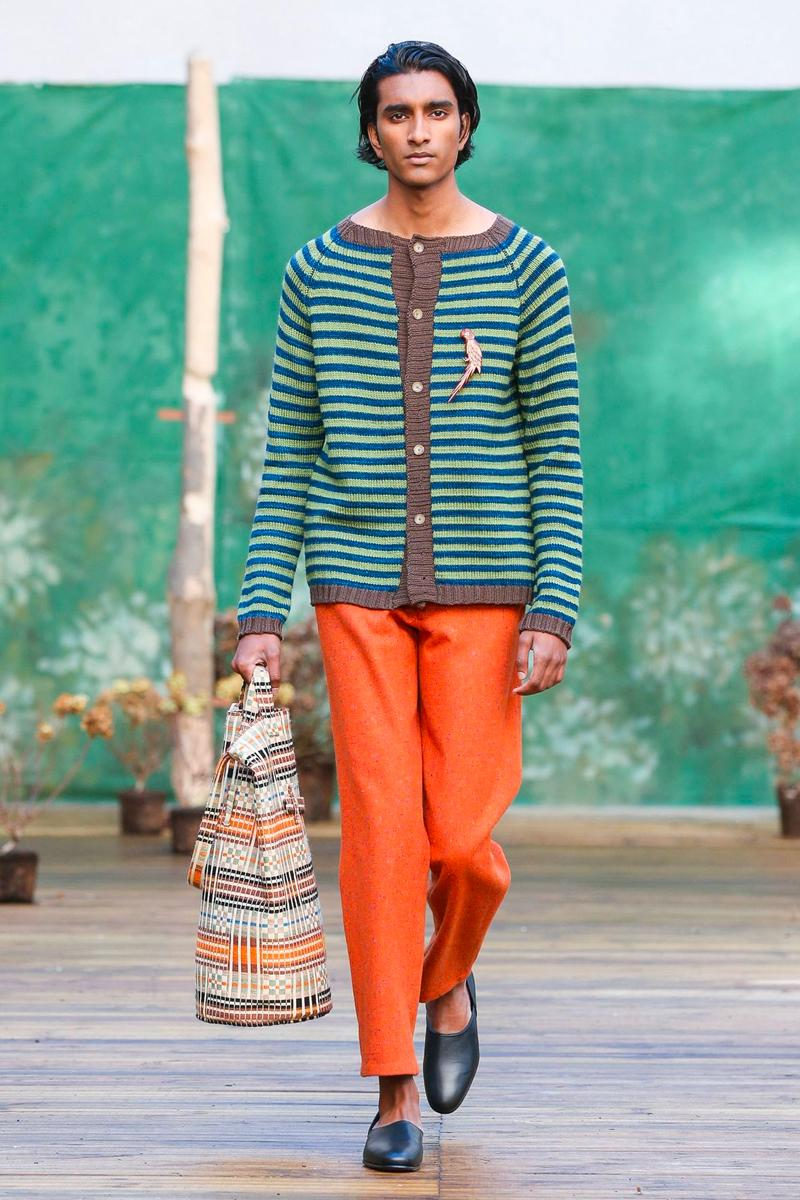 BODE Fall Winter 2020 Collection Runway Paris Fashion Week pfw heritage 1970s cuts catwalk new york designer emily antique fabrics victorian quilts grain sacks bed linens tailor made