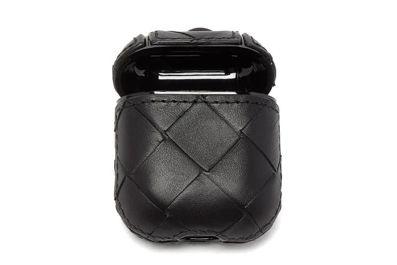 Bottega Veneta  Intrecciato Weave AirPods Case leather Italian fashion headphones BV