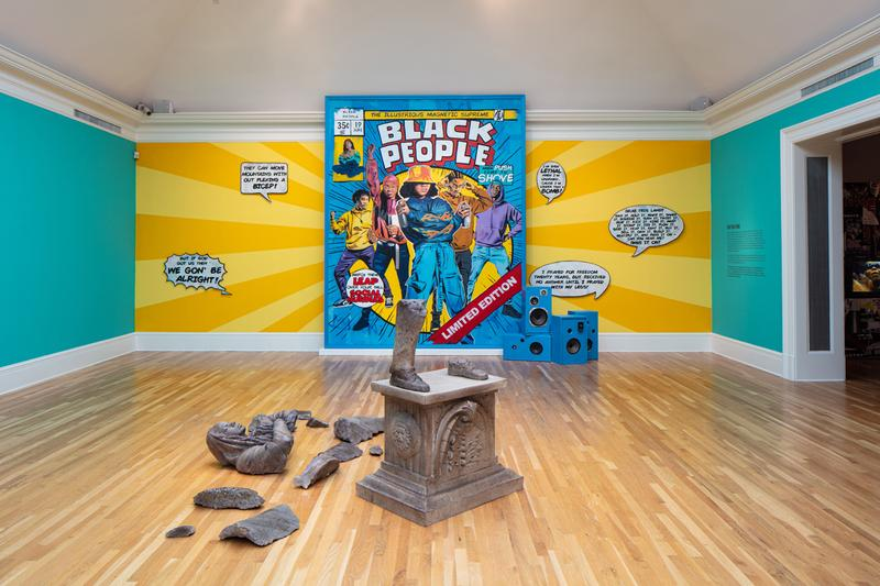 "Brandan ""BMike"" Odums Exhibition Newcomb Art Museum ""NOT Supposed 2-Be Here"" Paintings Installations Sculpture"