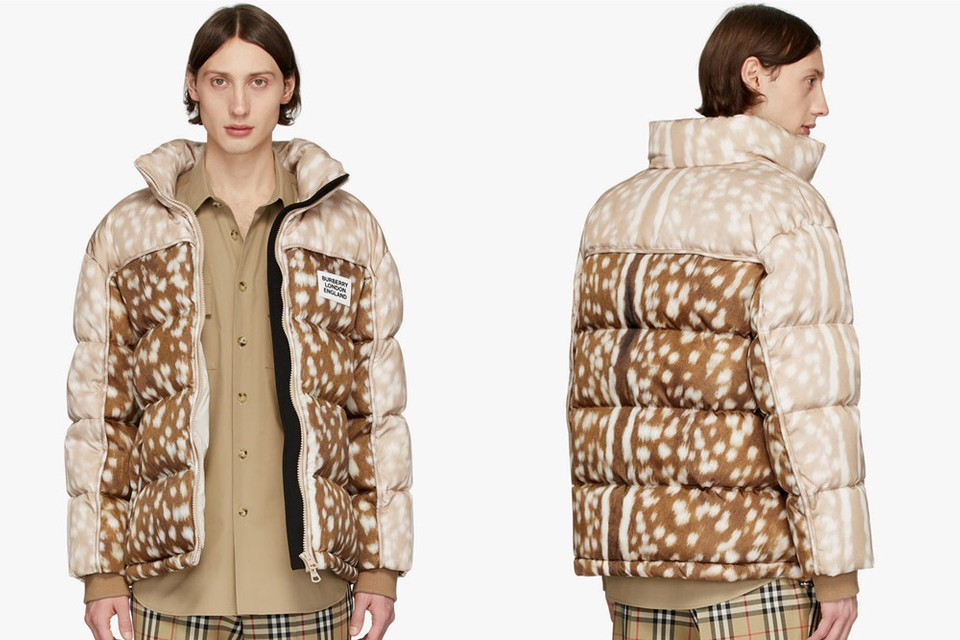 """Burberry Delivers Recycled Nylon Jacket With Quirky """"Bambi"""" Inspired Print"""