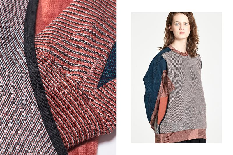 "BYBORRE ""Edition 7"" FW20 Collection Lookbook techwear technical apparel custom textiles knit fall/winter 2020 dutch artist erosie Waffle™ knit Textile Development Kit™"