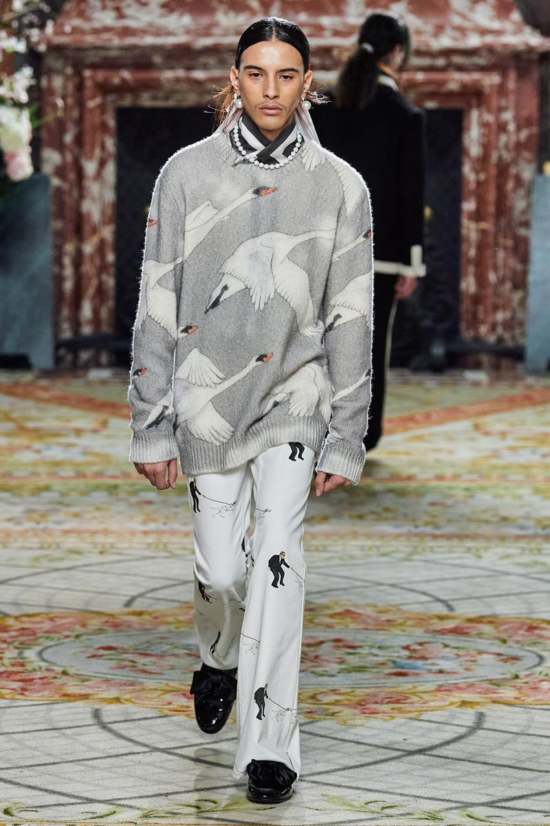 casablanca fall winter 2020 fw20 mens runway show collection paris fashion week creative director charaf tajer idealism theme