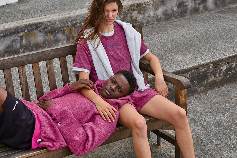 Champion Reverse Weave Premium Spring/Summer 2020 Lookbook SS20 Collection Sporting Heritage Classic Sweats Collegiate Basketball Tracksuits Fleece Swimwear Menswear Womenswear