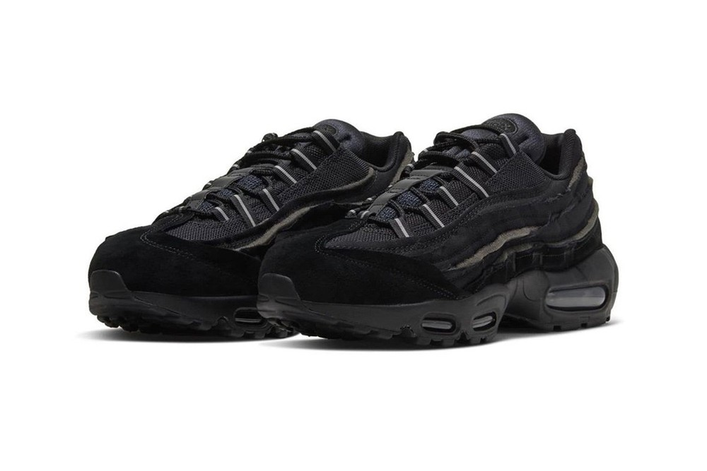 COMME des GARÇONS HOMME PLUS x Nike Air Max 95 closer look release information buy cop purchase black white grey release information off-white paris fashion week spring summer 2020