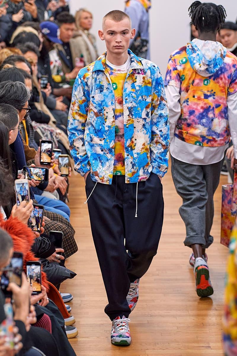 COMME des GARÇONS SHIRT Paris Fashion Week Men's Fall/Winter 2020 Runway Show Looks ASICS GEL-LYTE 3 Footwear Rei Kawakubo PFW FW20 Menswear Tailoring Shirts Patchwork Reports Futura