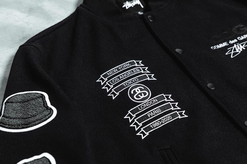 COMME des GARÇONS x Stüssy 40th-Anniversary Varsity Jacket CDG