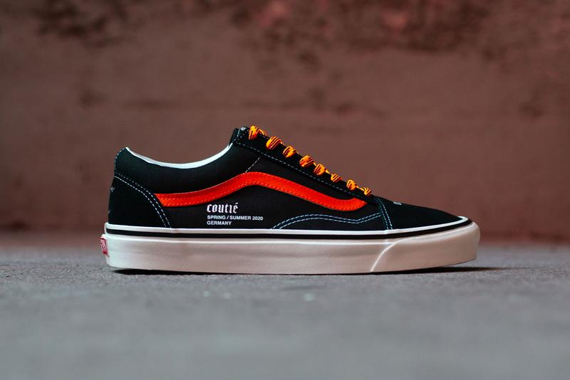 coutie vans old skool sk8 hi old c logo black orange white silver release date info photos price