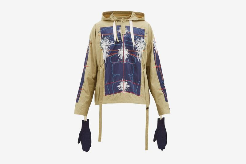 Craig Green Cotton Poplin Anorak Spring Summer 2020 Collection embroidery artful anatomy human body designer british london gloves outerwear jackets pullovers hoodie hooded Release Info Price Buy