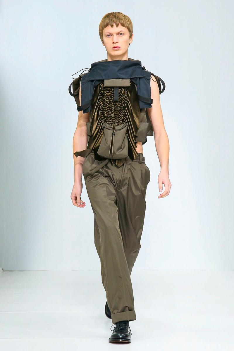 Craig Green FW20 Collection Paris Fashion Week show runway menswear workwear  BFC British Menswear Designer conceptual experimental avant garde aw20 fall winter autumn sculpture utilitarian