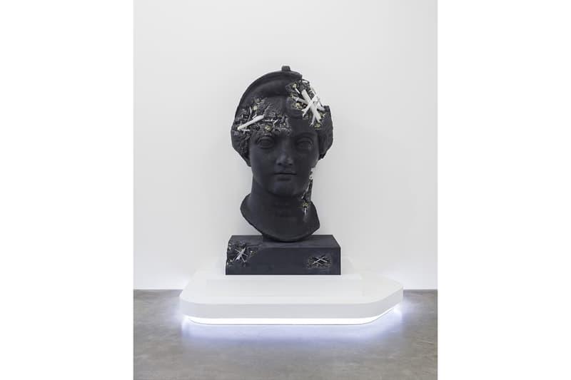 """Look Inside Daniel Arsham """"Paris, 3020"""" at Galerie Perrotin Closer View New York Sculpture Busts Exhibition France Réunion des Musées Nationaux 'Fictional Archaeology'"""