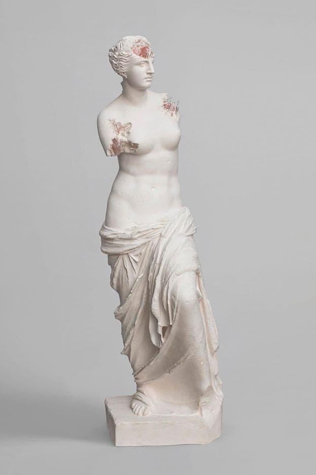 daniel arsham galerie perrotin paris exhibition sculptures cast