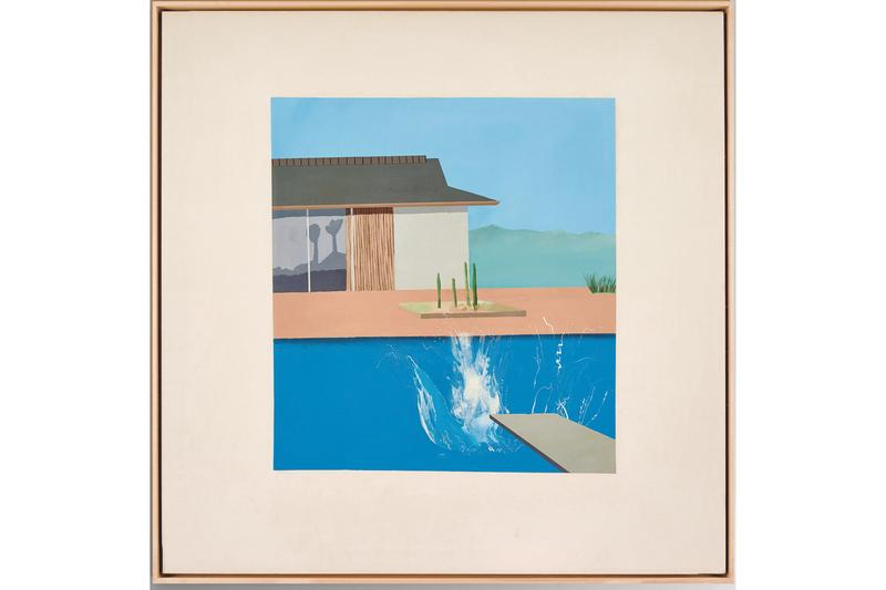 David Hockney 'The Splash' Sotheby's Auction London Painting California Swimming Pool Diving Board Turquoise House