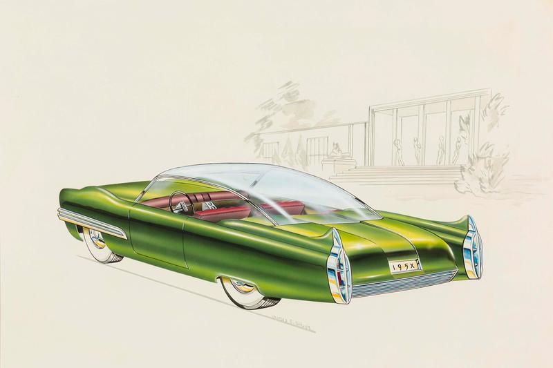 "Detroit Institute of Arts Car Design Exhibition ""Detroit Style: Car Design in the Motor City, 1950–2020"" Drawings Design Photographs"