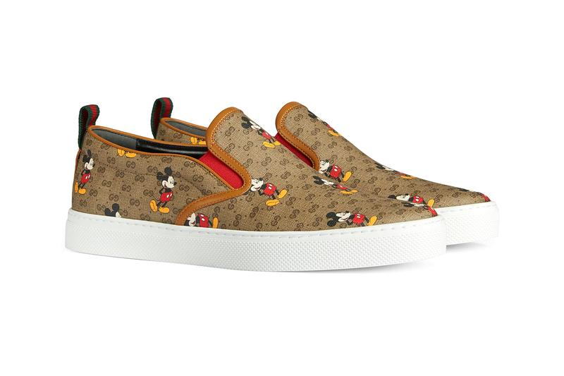 Disney x Gucci Chinese New Year Sneaker Footwear Release Information Mickey Mouse Rhyton Ace Slip On Slide GG Motif Cartoon Graphic Chinese New Year Capsule Collection Alessandro Michele