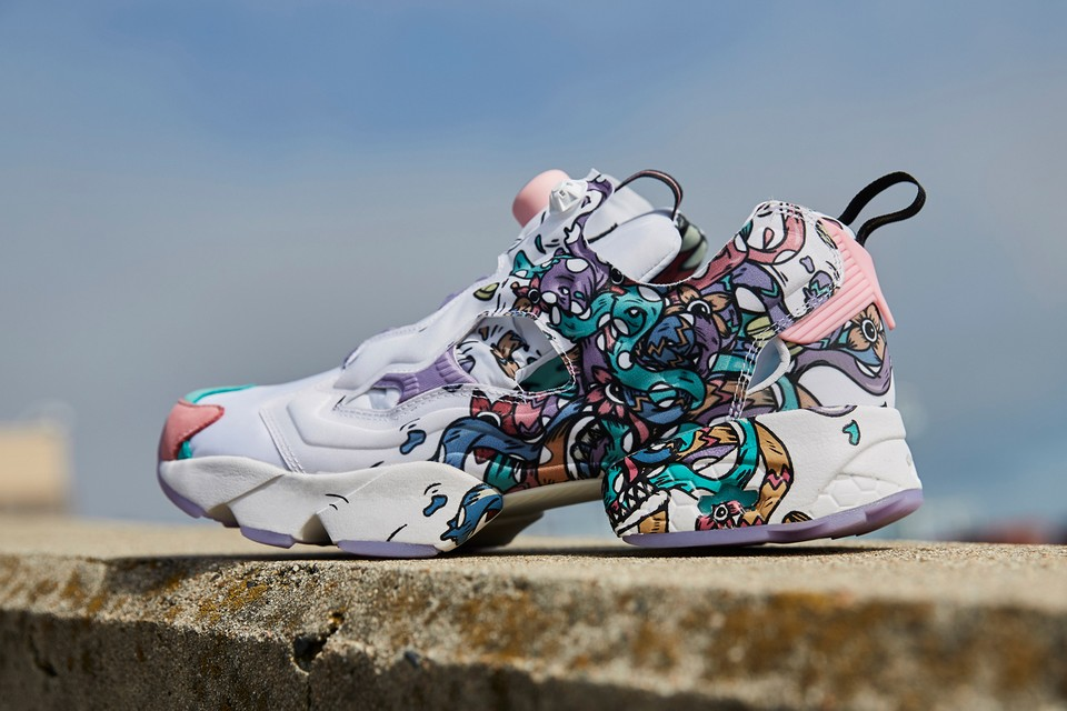 Visual Artist Distortedd Adds Bold Graphics to the Reebok Instapump Fury