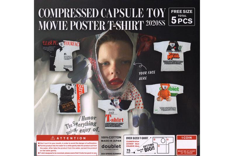 DOUBLET Movie Poster T shirt Spring Summer 2020 Japanese strangest comfort Masayuki Ino gachapon capsule compression mystery ball tee graphics scarface it a clockwork orange Trainspotting Ted