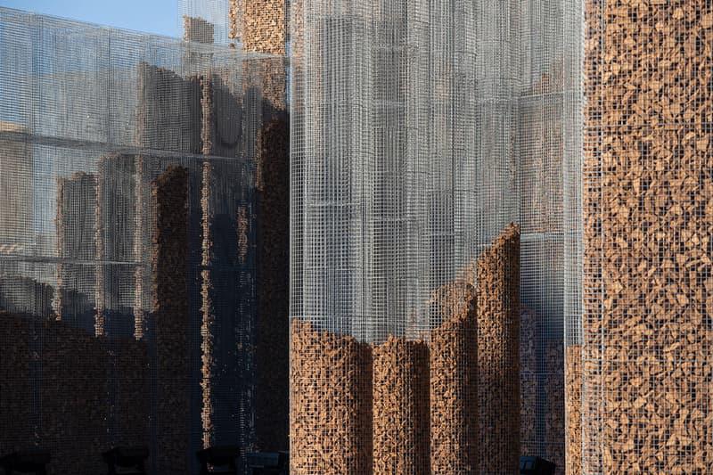 """Studio Studio Studio """"Gharfa"""" Installation Pavilion Riyadh Edoardo Tresoldi Designlab Experience Cork Max Magaldi Alberonero Matteo Foschi"""