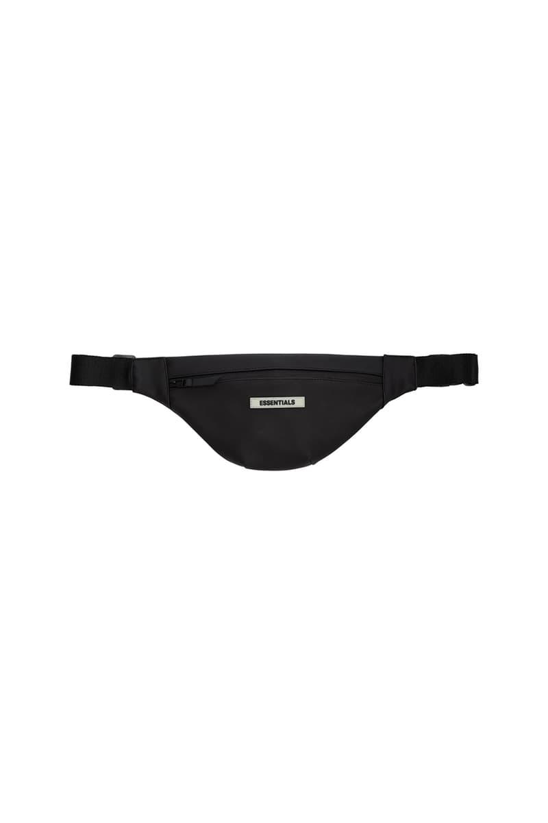 Fear of God ESSENTIALS Bag Collection Release SSENSE Shop Cop Online Drops Jerry Lorenzo Backpack Rucksack Duffle Bag Tote Waist Belt Straps Canvas Coated Cream Black Tonal