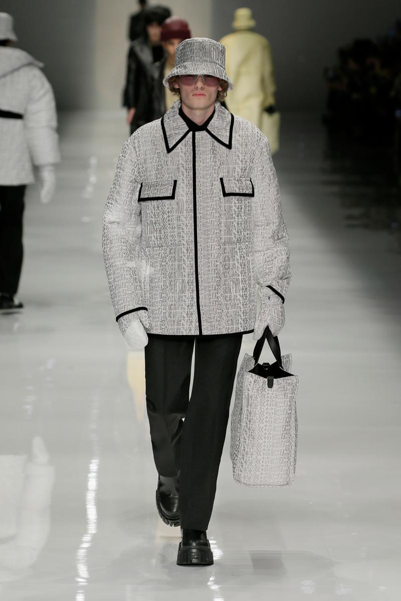 fendi fall winter 2020 mens collection runway show images silvia venturini creative director anrealage collaboration