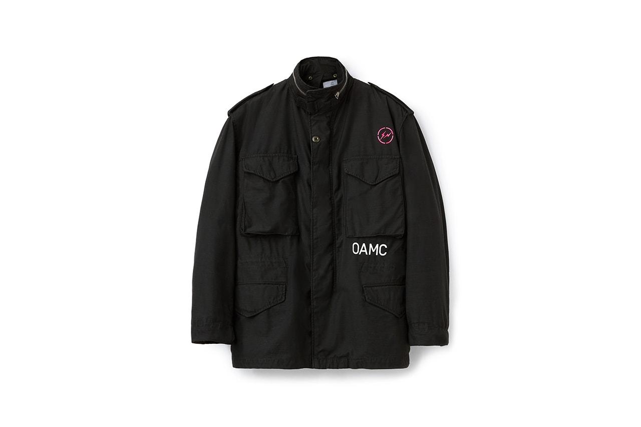 프라그먼트 디자인 x OAMC 캡슐 컬렉션, '깔깔이', M-65 필드 재킷 발매 정보