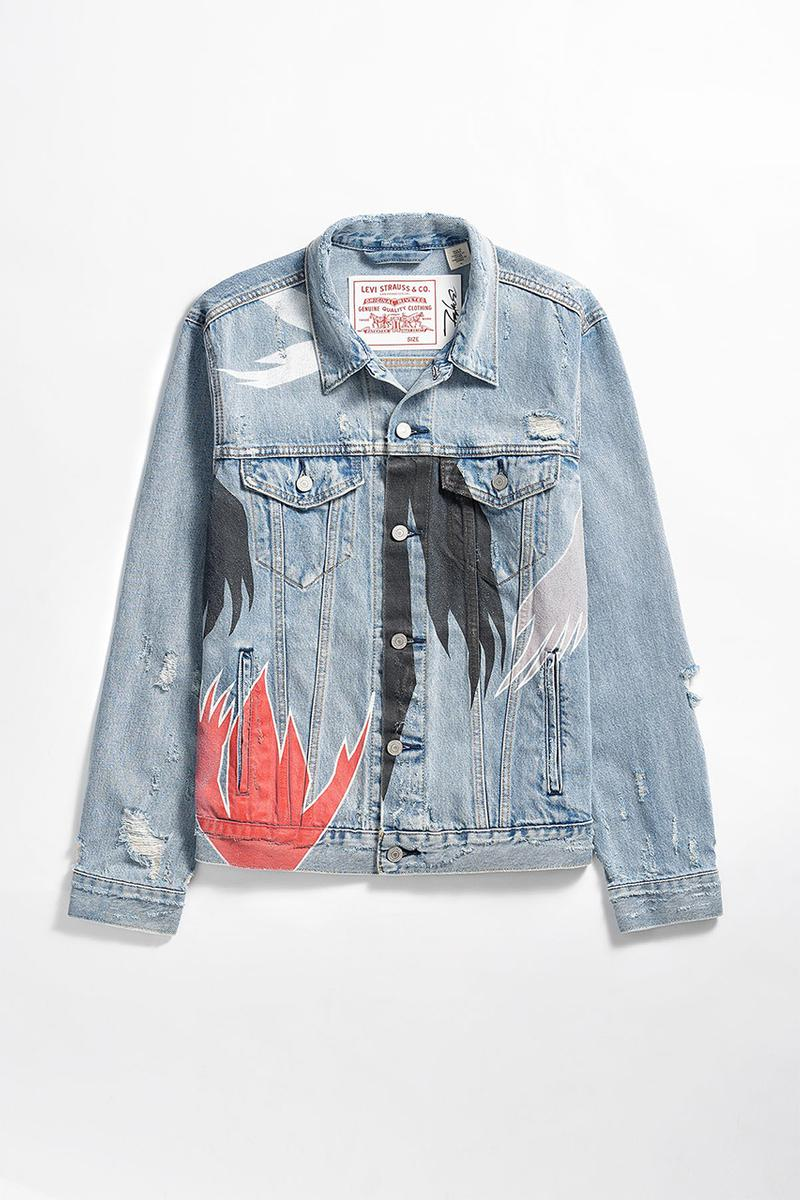 Futura Laboratories x Levi's Denim Capsule Collection Release Information Trucker Jacket 501 Jeans White T-Shirt Japan Release Americana Print Design Custom Limited Edition Clothing Staples