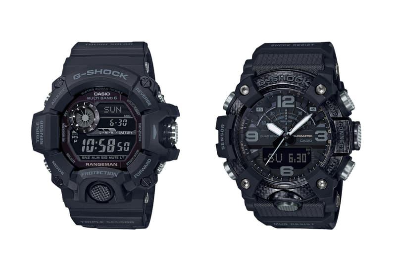 g shock master of g black colorway edition watches accessories mudmaster ggb100 rangeman gw9400