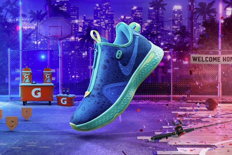 "Take an Official Look at the Gatorade x Nike PG 4 ""Gx 'NBA 2K20'"" GE"