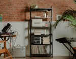 Ghostly International and Floyd Team Up on Blacked-Out Modular Shelving System