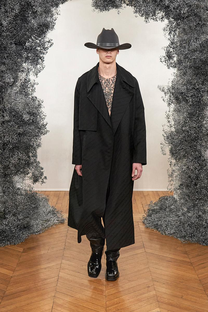 Givenchy FW20 Paris Fashion Week Menswear Show jewelry brooches pins charms los angeles india sweaters tailoring slimline blazers trench coats hardware