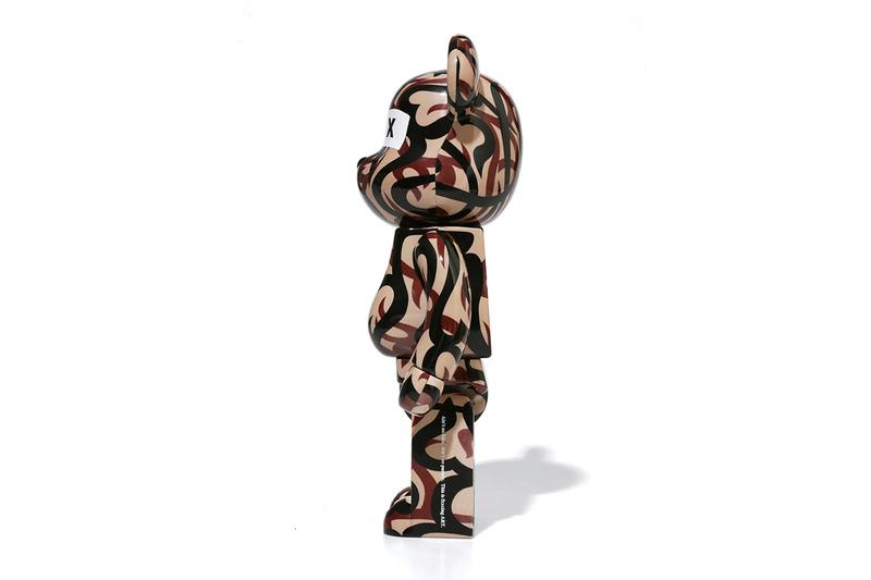 GOD SELECTION XXX x NUMBER (N)INE BE@RBRICKS, Hoodie collaboration medicom toy january 25 2020 release date tribal camouflage pattern NUMBER (N)XXX