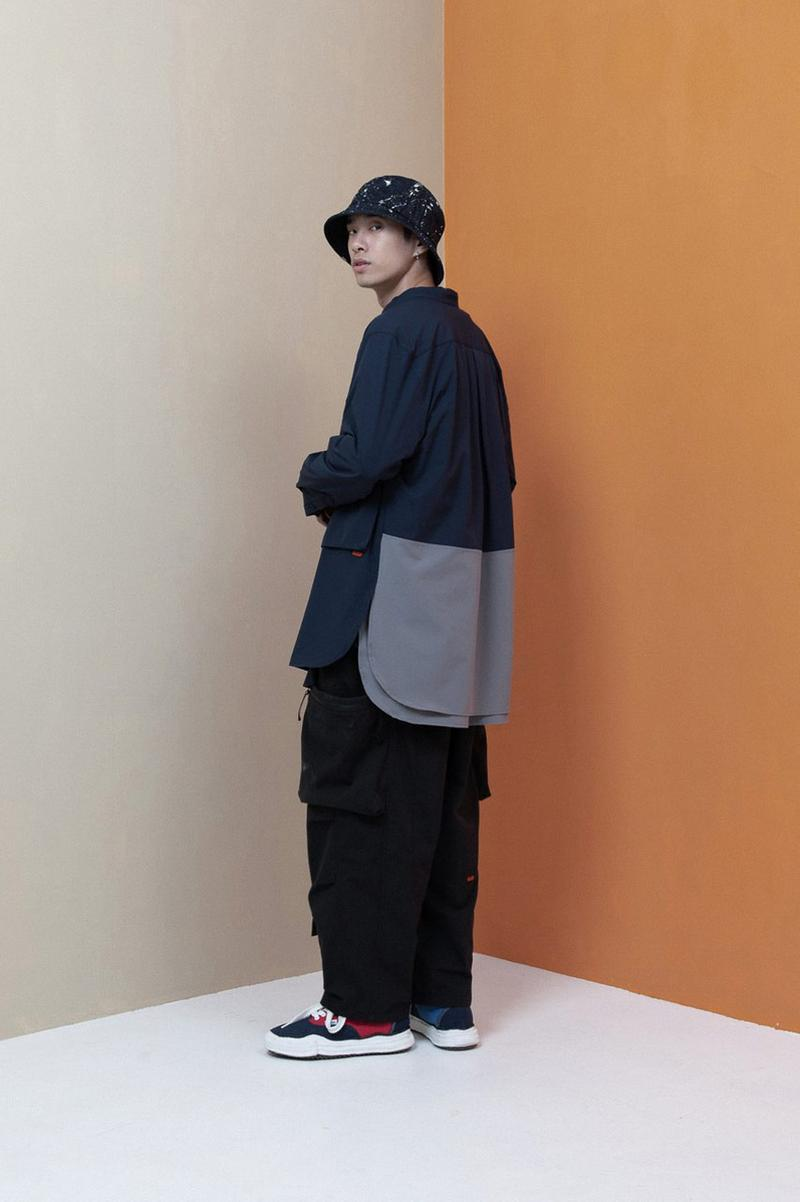 goopimade third anniversary collection layers 03 lookbook utility pullover jacket long shirt military pants teflon coating