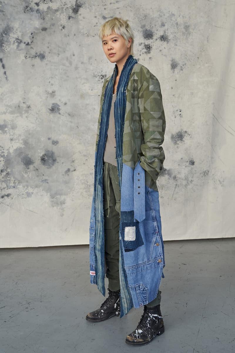 Greg Lauren Fall/Winter 2020 Lookbook Collection SCRAPS SCRAPWORK Jackets Knitwear Trousers Jumpsuits Coats Denim Houndstooth Blankets Tents Shirts Camouflage