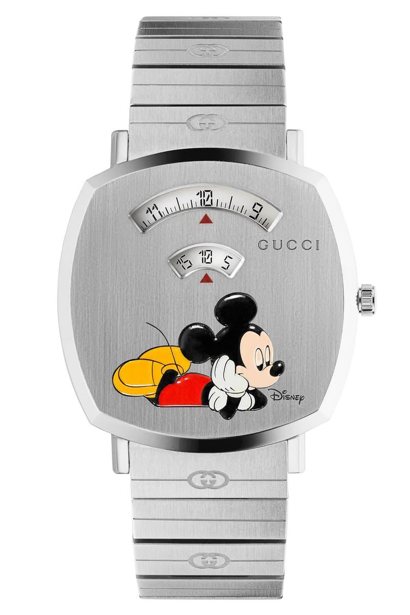 Disney x Gucci Mickey Mouse Grip Watch Info  GG monogram Ronda swiss quartz