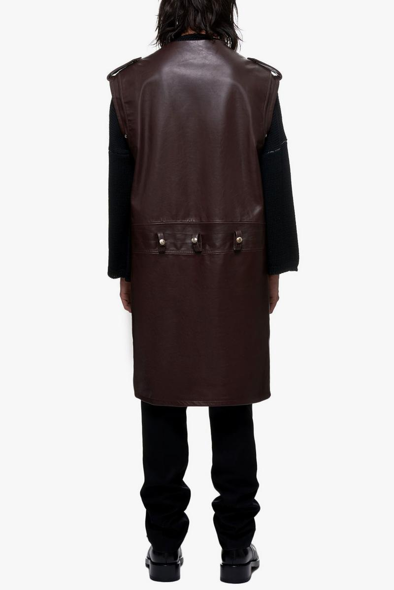 Raf Simons Sleeveless Elongated Perfecto Jacket
