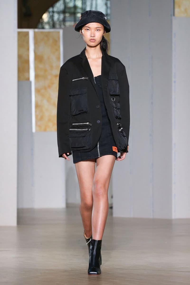 Heron Preston Fall/Winter 2020 Collection runway show paris fashion week menswear womenswear pfw fw20 caterpillar collaboration cat