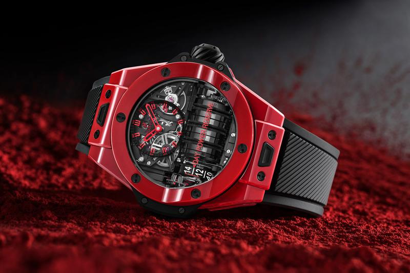 hublot 2020 watch watches collection releases dubai conference classic fusion gold crystal big bang unico integral spirit rainbow gemstones red magic ceramic sang bleu ii one click bracelets