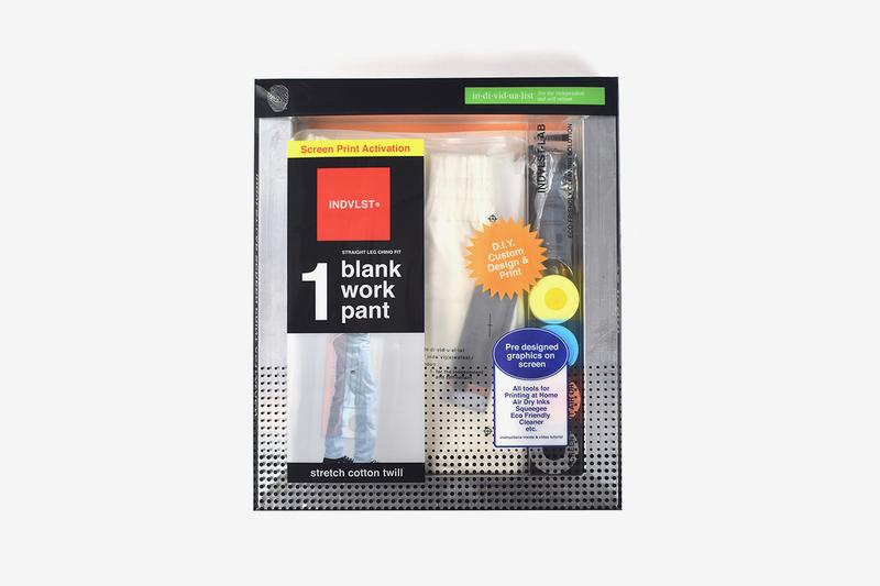 INDVLST Lab Screen Print Kit Volume 3 Release Chino Work Pant Automated Print Program White