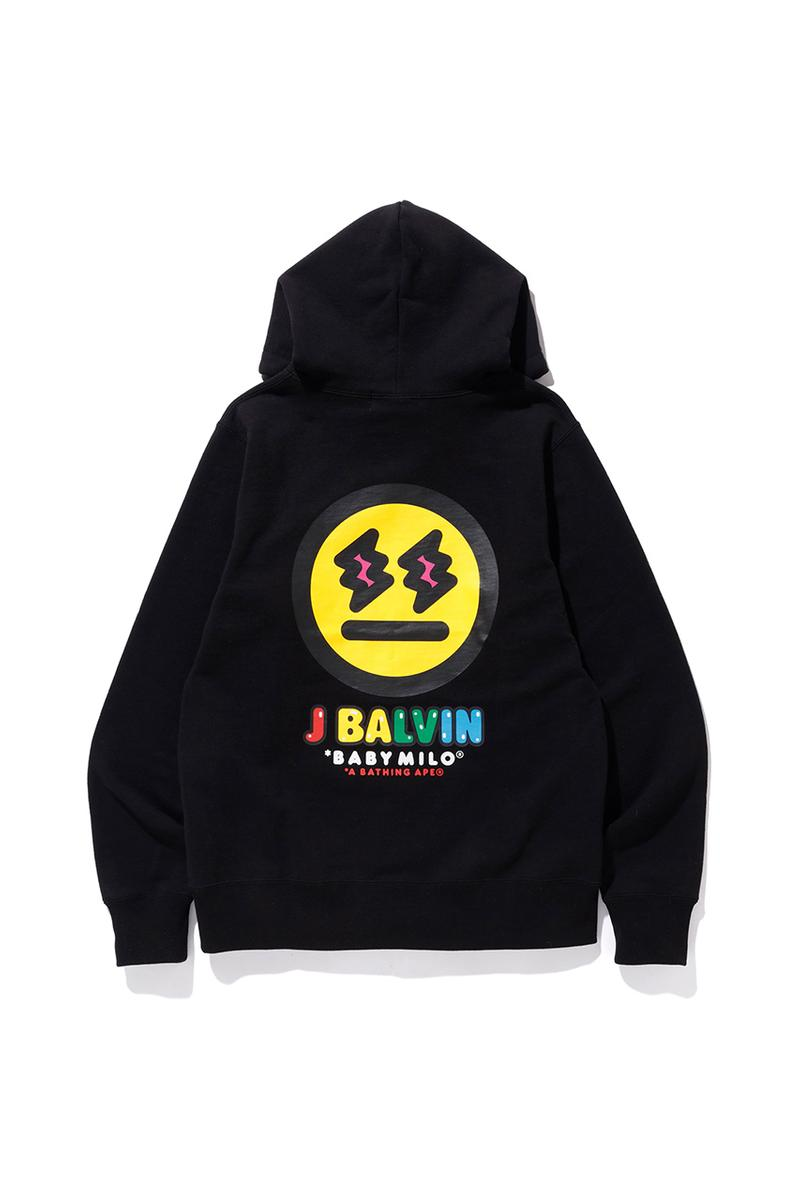J Balvin x A BATHING APE Capsule Collection First Look Announcement Reggaeton Lollapalooza Music Festival Collaboration BABY MILO Character Rework