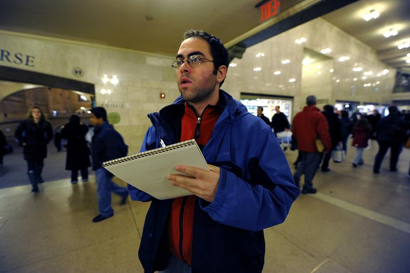 """Jason Polan """"Every Person in New York"""" Grand Central Station Ink Pen Sketch Pad"""