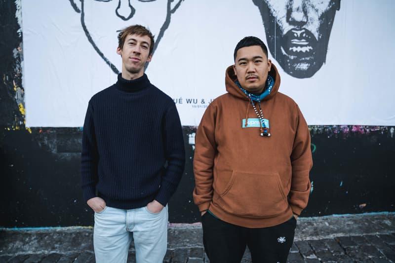 """Jean Jullien & Yué Wu """"Face to Face"""" Exhibition Point Éphémère Portraits Black White Han Solo Chewbacca Keith Haring Grace Jones"""