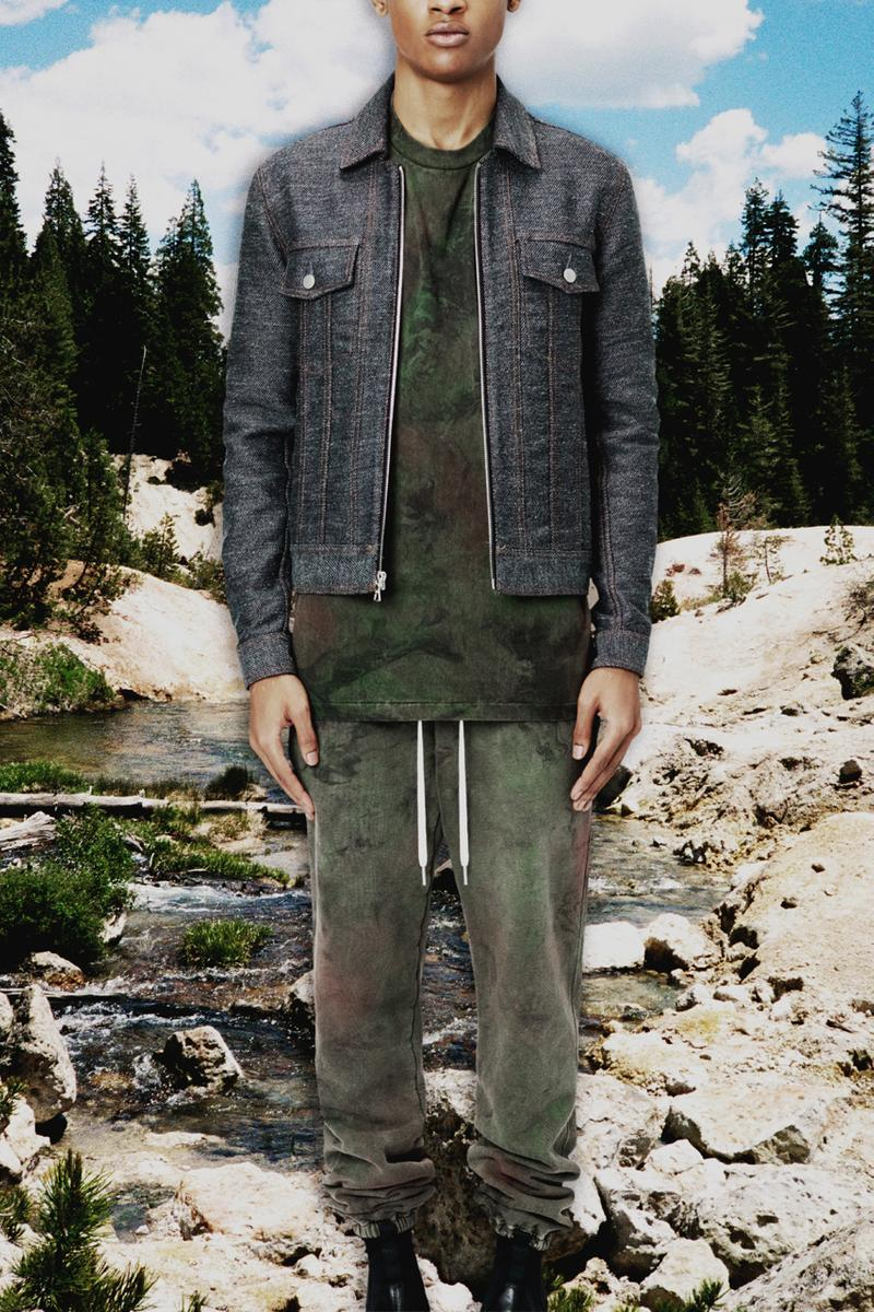 John Elliott Fall/Winter 2020 Lookbook Collection Jackets Coats Vests Trousers Shorts Shirts Hoodies Knitwear Leather Denim Butterflies Trout Indigo Shibori