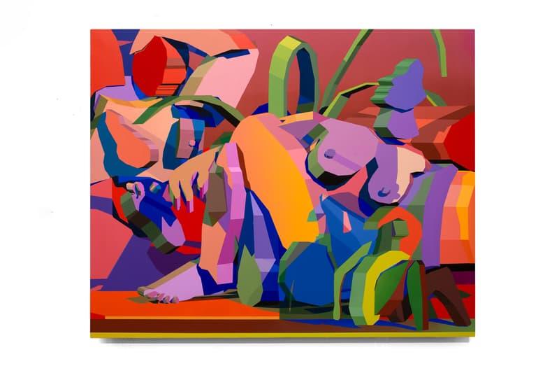 "Jonathan Chapline ""Hunter Gatherer"" Exhibition NANZUKA Gallery Tokyo Picasso Michelangelo Cézanne 'The Bathers' 'Les Demoiselles d'Avignon' 'Battle of Cascina' 3D Computer Program Digital Painting"