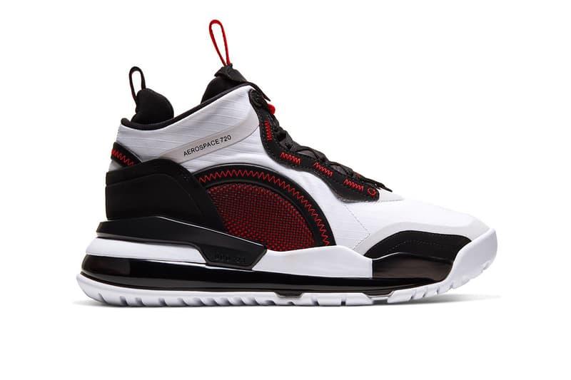 """Jordan Aerospace 720 """"White/Gym Red/Black"""" release info nike sneakers footwear swoosh Bv5502-100"""