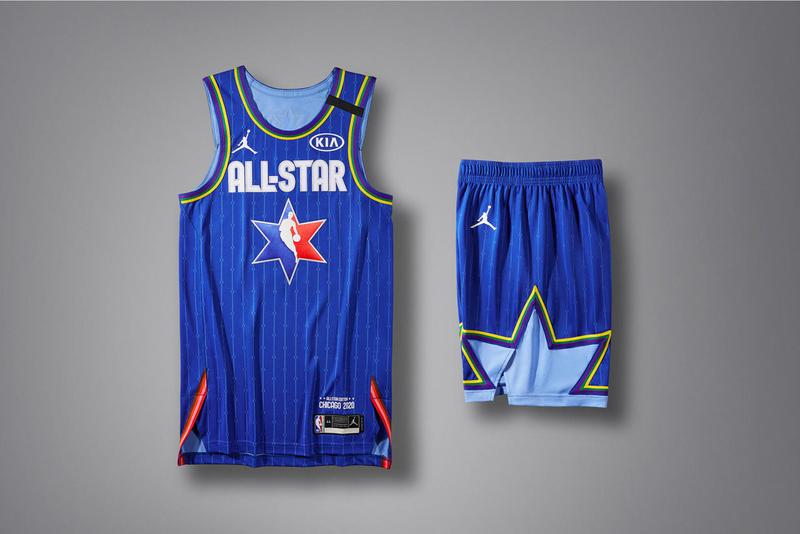 jordan brand nike nba all star 2020 uniforms chicago transit inspiration basketball on court game uniform