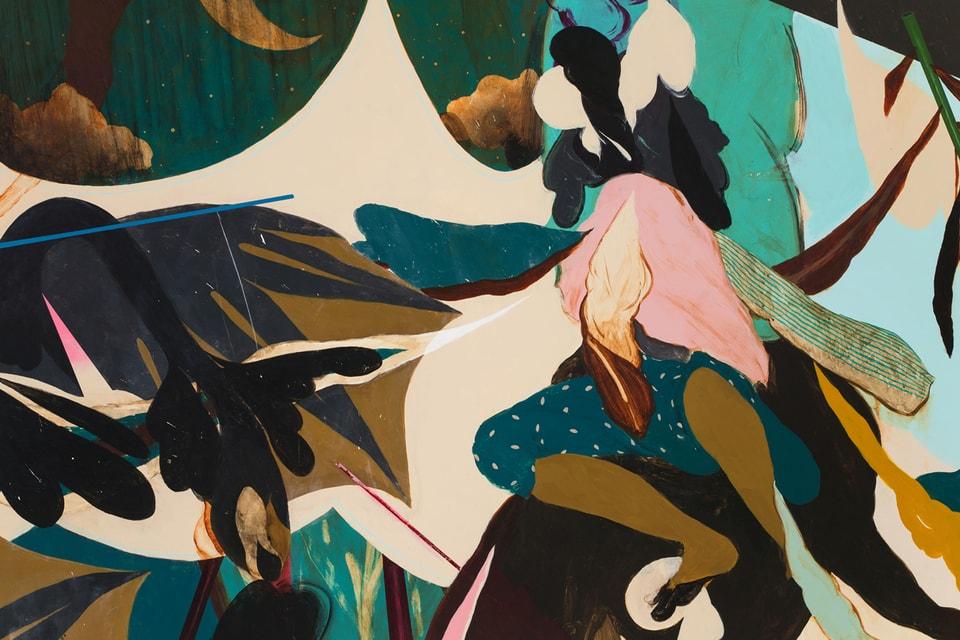 Kenichi Hoshine Displays Abstract Wood Panel Paintings at Hollis Taggart Gallery