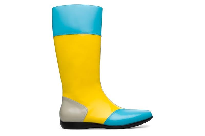 kiko kostadinov campelab mauro boot shoe patent leather blue black yellow tan release date info photos price