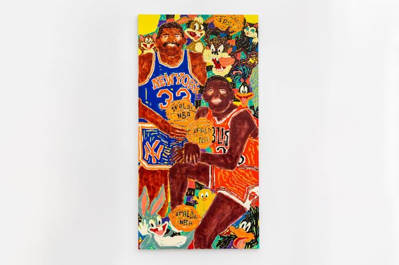 "Koichi Sato & Susumu Kamijo Duo ""Nobunaga"" Exhibition Bill Brady Gallery Miami Paintings Poodles Basketball"
