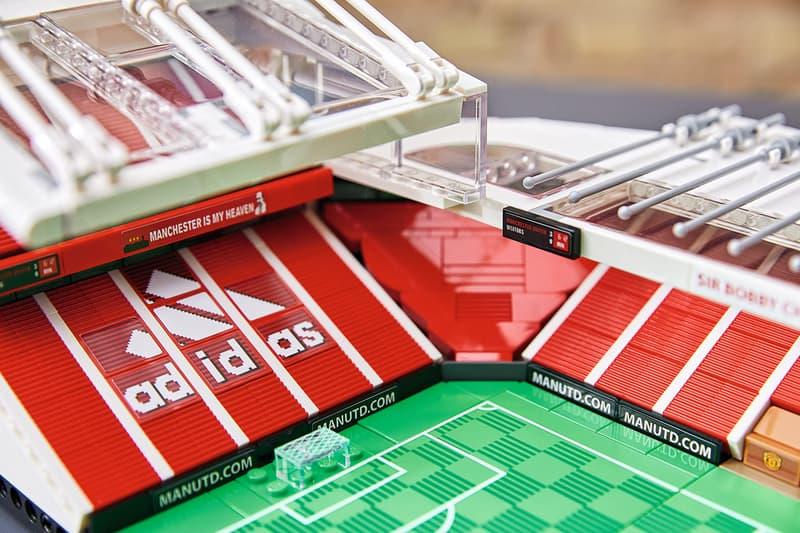LEGO Creator Expert Old Trafford Stadium Manchester United Football Club Soccer Build Design Classic Toy Collectibles Memorabilia Grounds Bricks Holy Trinity statue Munich Clock