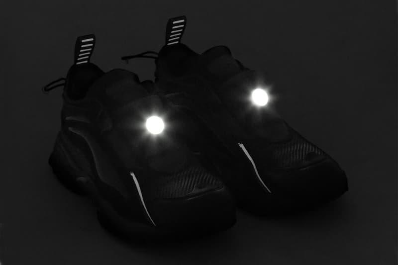 Random Identities Li-Ning LED system Aurora 2020 cycling berlin club scene nightlife blacked out monochrome brown black chinese sportswear Athens olympics remold footwear
