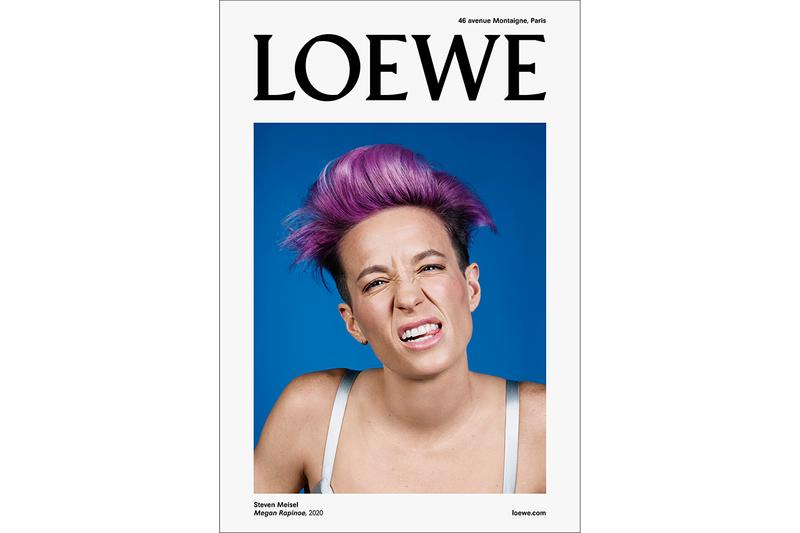 LOEWE Fall/Winter 2020 Menswear Campaign Shot by Steven Meisel First Look Teaser U.S. Female American Football Player Star Megan Rapinoe Soccer Puzzle Bag Jonathan Anderson Concept of truth in the face of distortion
